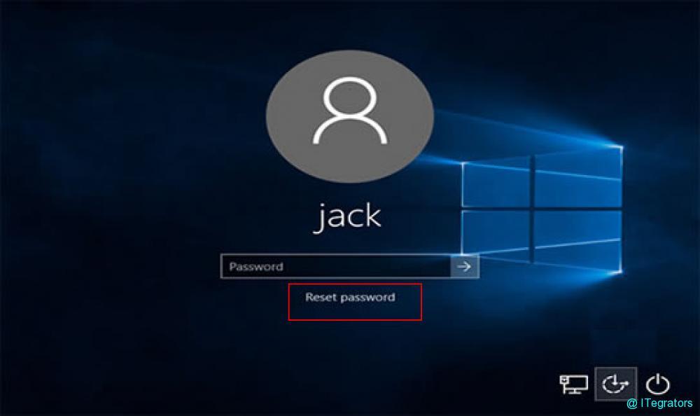 windows password screen